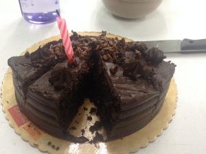 Here's my birthday cake.